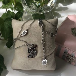 NEW Juicy Couture Initial Necklace-Silver S Charm
